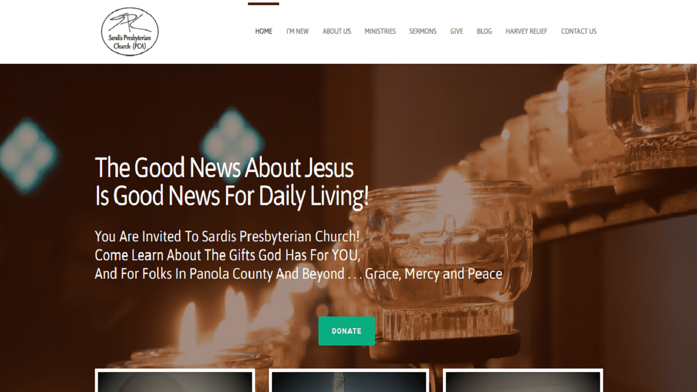 sardis presbyterian website - tangerine web works